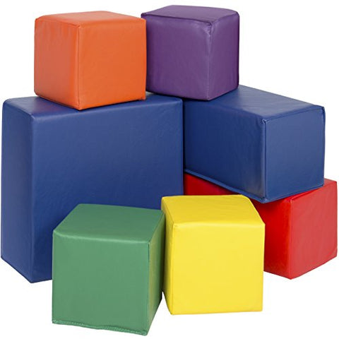 Best Choice Products Soft Big Foam Blocks Playset (7 Piece)
