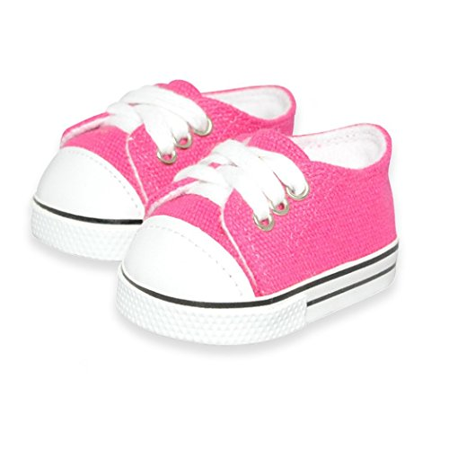 4efd7ad30ee7f Dolls Shoes - Pink Sneakers Shoes Doll Shoes Fits American Girl Dolls, My  Life Doll And Other 18 Inches Dolls