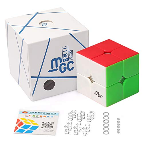 D-Fantix Yj Mgc 2X2 Speed Cube Stickerless Yj Mgc Magnetic 2X2X2 Puzzle Cube Toy