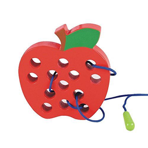 Babywants A Hungry Caterpillar Threading Lacing Big Apple Toy Travel Game For Toddlers