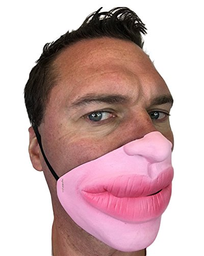 Funny Half Face Big Botox Fat Red Lips Mask , Jagger , Smile , Batchelor Party