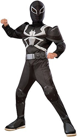 Rubie'S Costume Spider-Man Ultimate Deluxe Child Agent Venom Deluxe Costume, Large