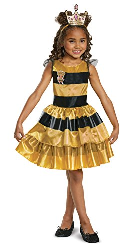 L.O.L. Surprise! Queen Bee Classic Child Costume, Yellow, Medium/(7-8)