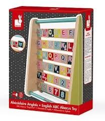 Janod English Abc Abacus Wood Toy Imported From France