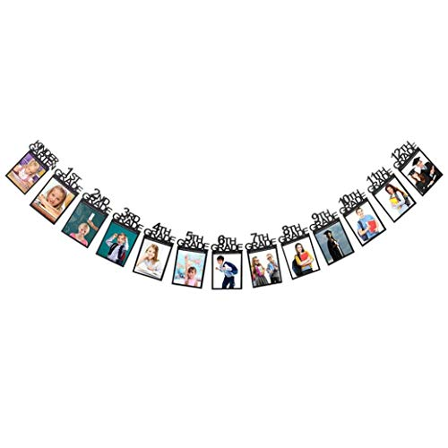 Class Of 2019 Congrats Kindergarten-12 Grade Photo Banner -Perfect Graduation Decorations Party Supplies For Grad Party Bunting Black