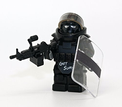 Custom Juggernaut Army Assault Soldier Call Of Duty Clear - Modern Brick Warfare Custom Minifigure