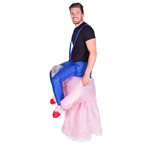 Bodysocks - Inflatable Grandma Piggyback Blow Up Funny Adult Fancy Dress Costume