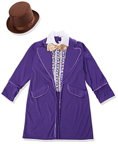 Rubie'S Costume Kids Willy Wonka & The Chocolate Factory Willy Wonka Value Costume, Large