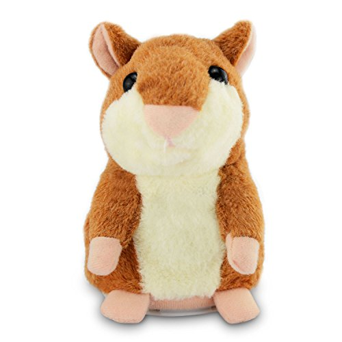Color You Talking Hamster Repeats What You Say Electronic Pet Talking Plush Toy Buddy Mouse For Kids, 3 X 5.7 Inches, Batteries Not Included