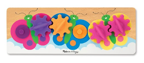 Melissa &Amp; Doug Fluttering Butterflies Gear Toy With 6 Interchangeable Gears