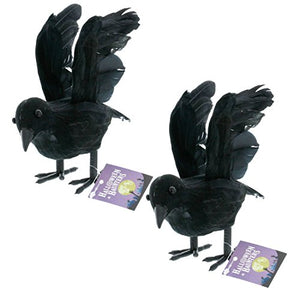 Halloween Haunters Realistic Black Flying Crows