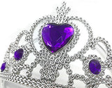 Princess Purple Dress Up Party Accessories 4 Set Gloves, Tiara And Wand And Necklace
