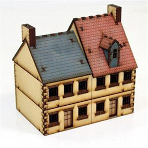 Europe At War - Buildings 15Mm Semi-Detached House #3 (Pre-Painted)