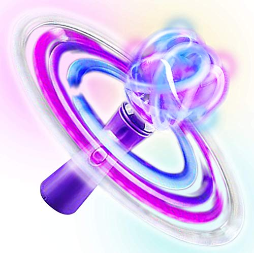 Artcreativity Light Up Galaxy Orbiter Wand | 9 Led Electronic Spin Toy For Kids With Batteries Included | Great Gift Idea For Boys, Girls, Toddlers | Fun Birthday Party Favor/ Carnival Prize