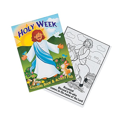 Fun Express - Holy Week Activity Pads For Easter - Stationery - Activity Books - Activity Books - Easter - 24 Pieces
