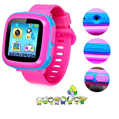 Game Smart Watch For Kids, Children'S Camera 1 5 Touch Screen Pedometer 10  Games Timer Alarm Clock Health Monitor Boys Girls Game Watches(Joint