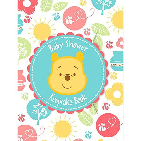 Delightful Winnie The Pooh Keepsake Book Baby Shower Party Favour, 8 X 6.
