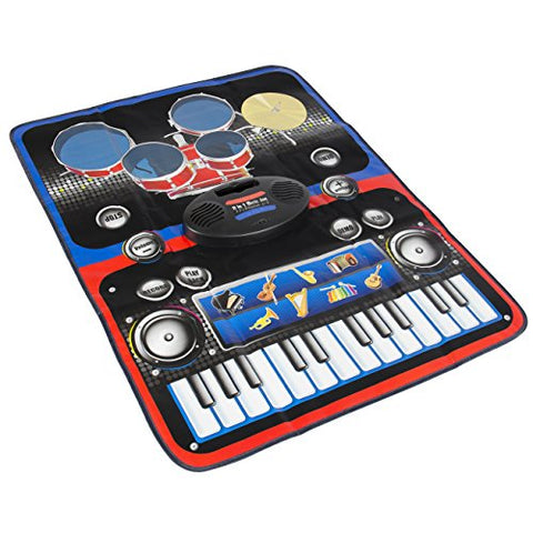Best Choice Products Kids 2-In-1 Play Together Musical Playmat With Drums &  Keyboard, Multicolor
