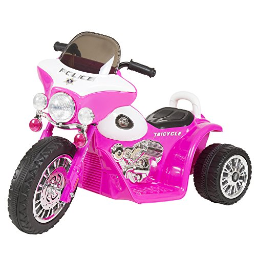 Battery Operated Ride On Toys >> 3 Wheel Mini Motorcycle Trike For Kids Battery Powered Ride On Toy By Rockin Rollers Toys For Boys And Girls 2 5 Year Old Police Car Pink
