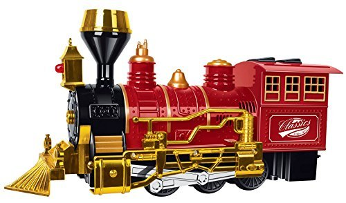 Toyze Christmas Train Bump And Go Action, Classic Railroad Train, Kids Train With Lights And Sounds, Perfect Toy For Christmas