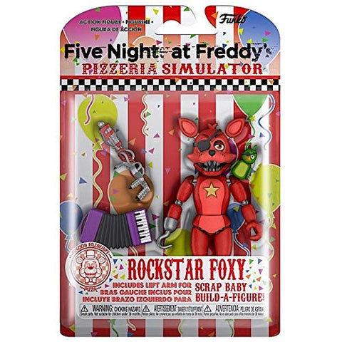 Rockstar Foxy Five Nights At Freddy'S Pizzeria Simulatior 5 Poseable Action  Figure