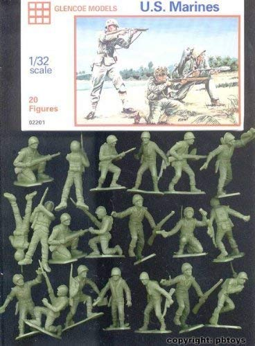 Glencoe Models 1:32 Scale U.S. Marines 20 Figures By Glencoe Models