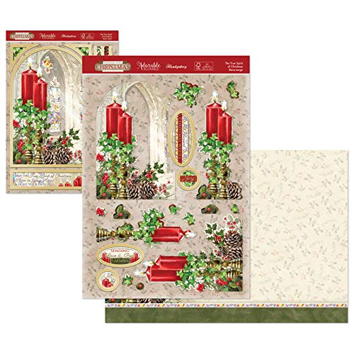 Hunkydory Stepping Into Christmas Designer Deco-Large Set- The True Spirit Of Christmas Stepdec910
