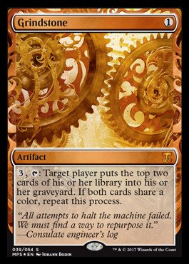 Magic The Gathering Grindstone - Foil - Masterpiece Series