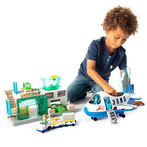 Fat Brain Toys Airport Terminal And Jet Plane Playset - Airport Playset