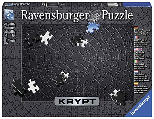 Ravensburger Krypt Black 15260 736 Piece Puzzle For Adults, Every Piece Is Unique, Softclick Technology Means Pieces Fit Together Perfectly
