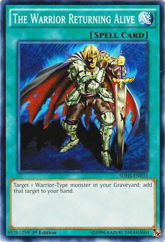 Yu-Gi-Oh! - The Warrior Returning Alive (Sdhs-En033) - Structure Deck: Hero  Strike - 1St Edition - Common