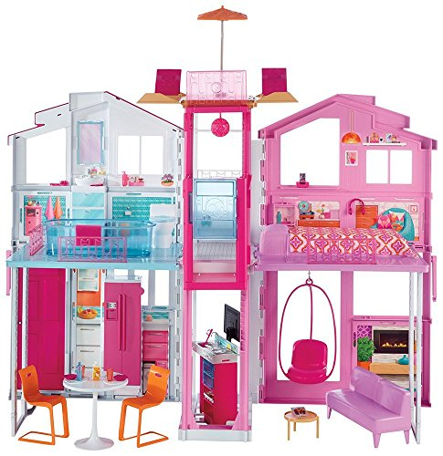 Barbie Pink Passport 3-Story Townhouse