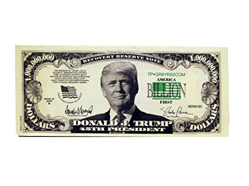Donald Trump 45Th President Billion Dollar Bill 25Count
