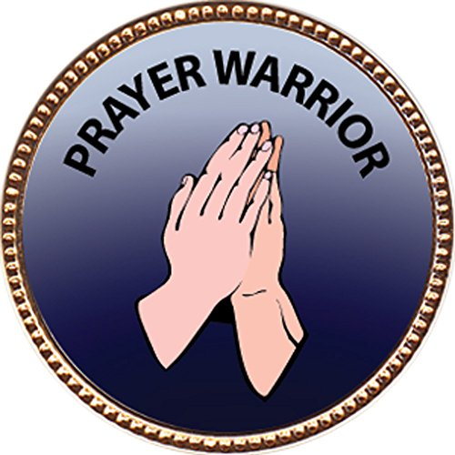 Prayer Warrior Award, 1 Inch Dia Gold Pin  Spiritual Life Skills Collection  By Keepsake Awards