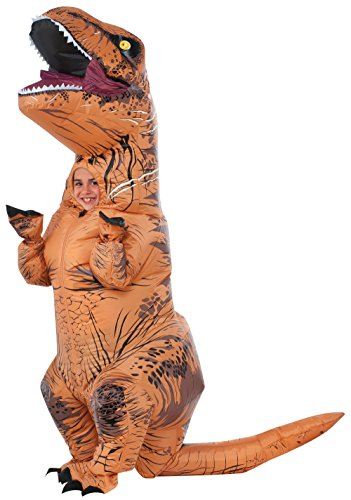Rubie'S Costume Jurassic World Child'S T-Rex Inflatable Costume With Sound, Multicolor, One Size