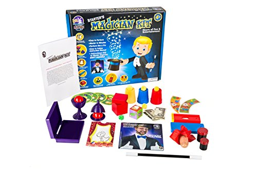 Starter Magic Tricks Set For Kids - 12 Exciting Magician Items, Instruction Dvd - Magic Kit Gift Set