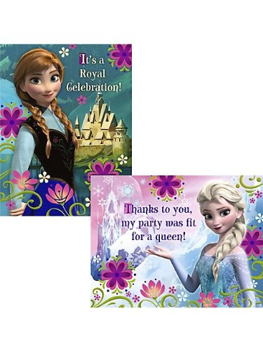Hallmark Frozen Invitation And Thank You (8 Each)