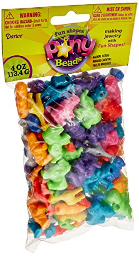 Darice Plastic Novelty Zoo Animal Shaped Beads, 1/4-Pound, Multi Color