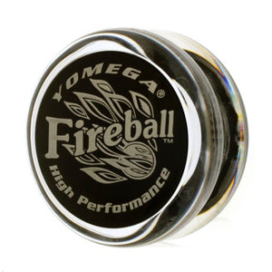 Yomega Fireball Yo-Yo - Clear / Black Cap + Free Strings Reduces Friction And Increases Spin
