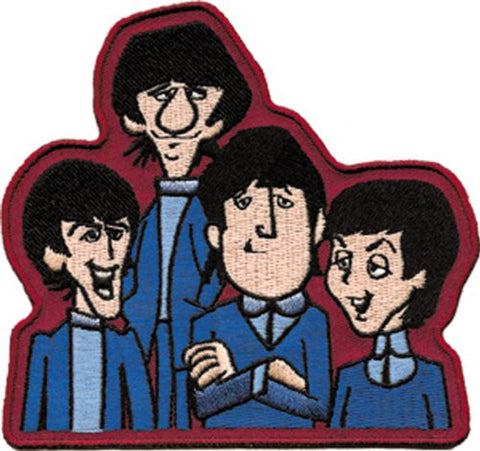 Application Beatles Cartoon Characters Patch