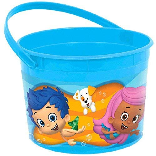 Amscan Lovely Bubble Guppies Blue Plastic Birthday Party Favour Container Toy And Prize, 4