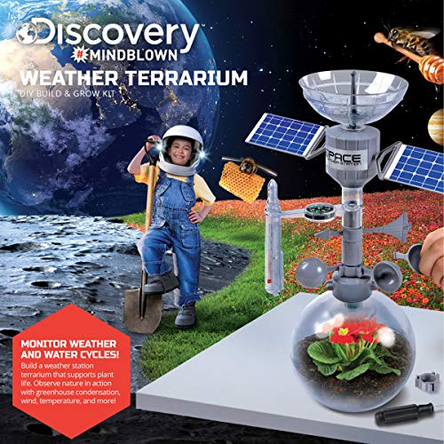 Discovery Mindblown Weather Terrarium Diy Build And Grow Kit, Create And  Study The Water Cycle And Ecosystems, Space Station Model Design With