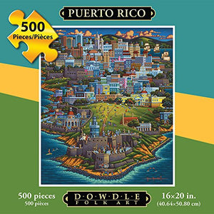 Jigsaw Puzzle - Puerto Rico 500 Pc By Dowdle Folk Art