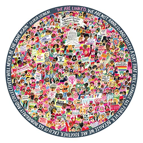 Eeboo Women March! 500Pc Round Puzzle, 1 Ea