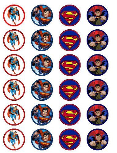 24 Superman Toppers Gteau