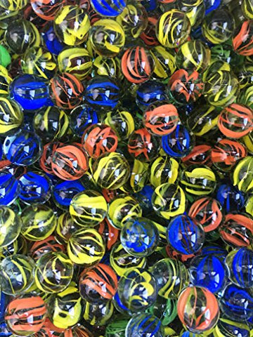 Honeytoys Set Of 24 Shooter Marbles 1 Marbles In Bulk Glass Marbles(Each  Color 6 Marbles)