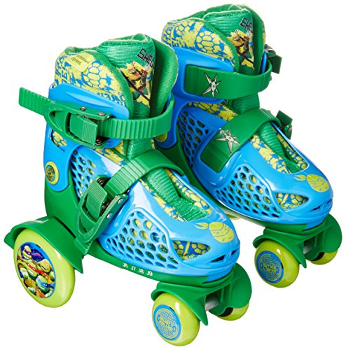 Playwheels Teenage Mutant Ninja Turtles Kids Big Wheel Quad Roller Skates - Junior Size 6-9