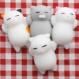Mochi Animals Stress Toys, Outee 5 Pcs Mochi Squishy Toy Mini Cat Squishy Mochi Squishy Cat Mochi Squeeze Toys Soft Squishy Stress Relief Animal Toys