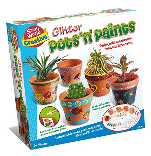 Small World Toys Creative - Glitter Pots 'N' Paints Craft Kit