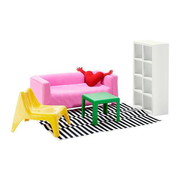 1 X Ikea'S Huset Doll Furniture, Living Room By Xiaoshitou
